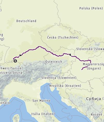 Karte / Donau-Radweg - Radwanderung 2017