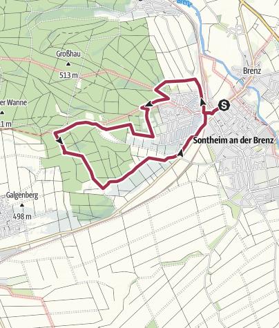 Karte / Donautalblick- Rundwanderweg in Sontheim