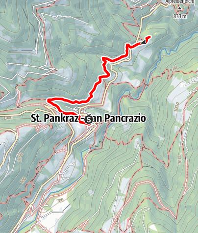 Karte / Naturlehrpfad St. Pankraz