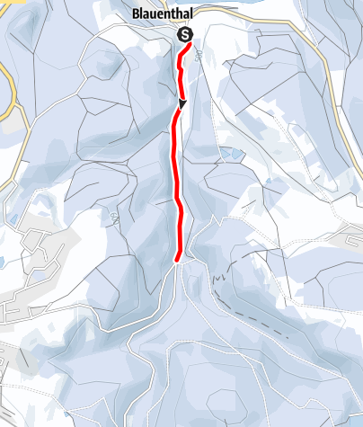 Karte / Winterwandern - Blauenthal