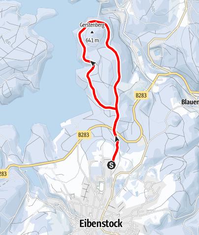 Karte / Winterwandern - Um den Gerstenberg