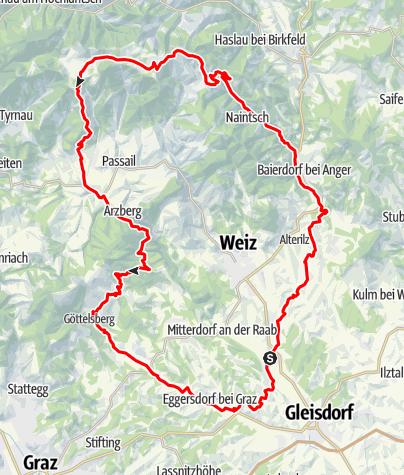 Karte / Apfelland & Almenland Tour