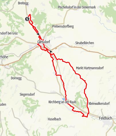 Karte / Raabtal Tour