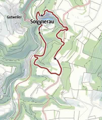 Karte / Themenrundweg RuT6 bei Sommerau - Nutzungsgeschichte im Ruwertal