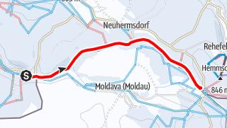 Karte / Winterwandern - Vom Teichhaus nach Neurehefeld