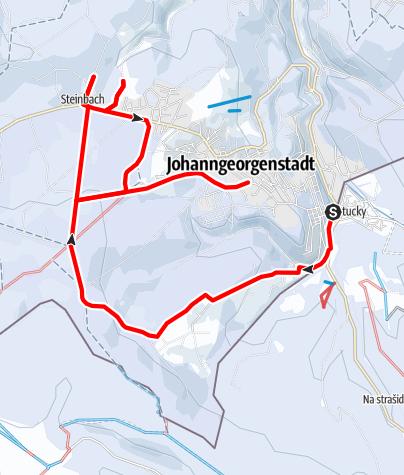 Karte / Winterwandern - Rund um Johanngeorgenstadt