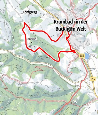 Karte / Himmelsteigwanderung