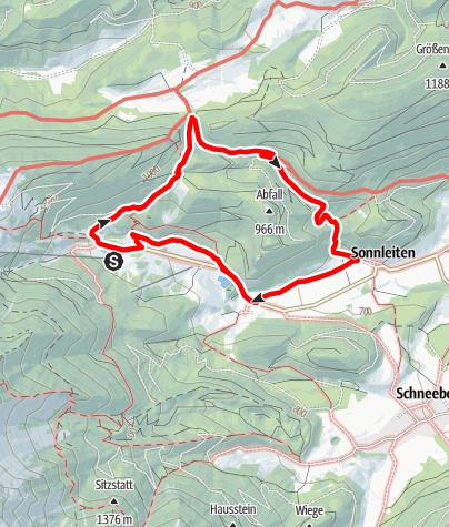 Mapa / Tut Gut Wanderweg Puchberg am Schneeberg Route 1