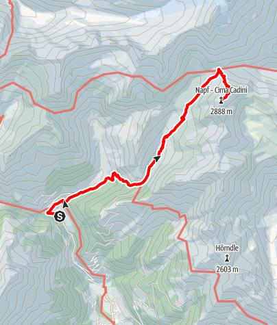 Karte / Napfspitze