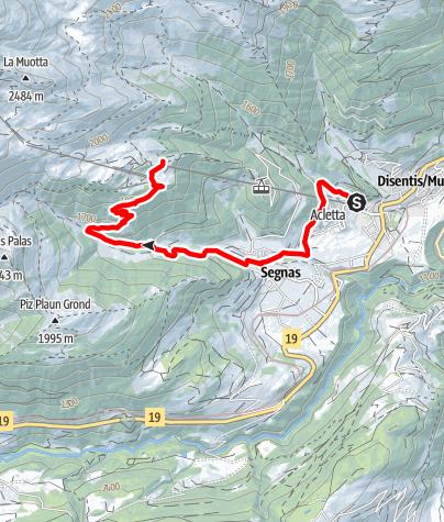 Karte / Caischavedra - Trail