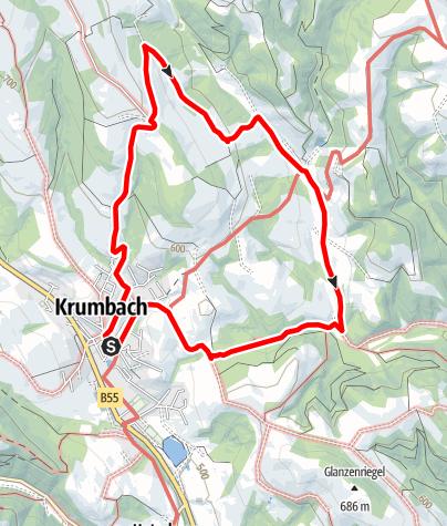 Mapa / Wanderung Maierhöfen - Tiefenbach
