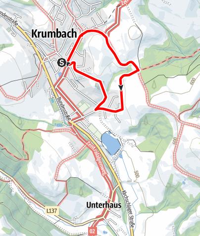 Mapa / Wanderung Katzentürl
