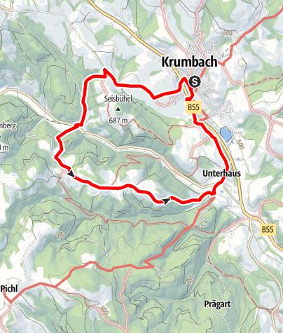 Karte / Wanderung Kraxenberg
