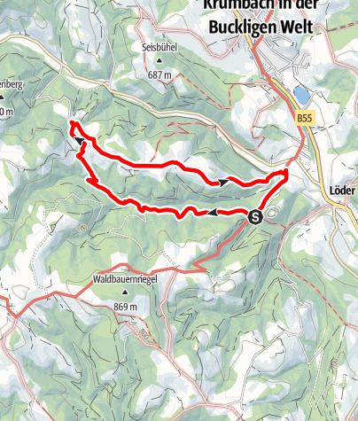 Mapa / Wanderung Schloss - Kraxenberg