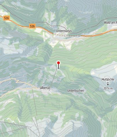 Kaart / Knappenweg Abzweigung