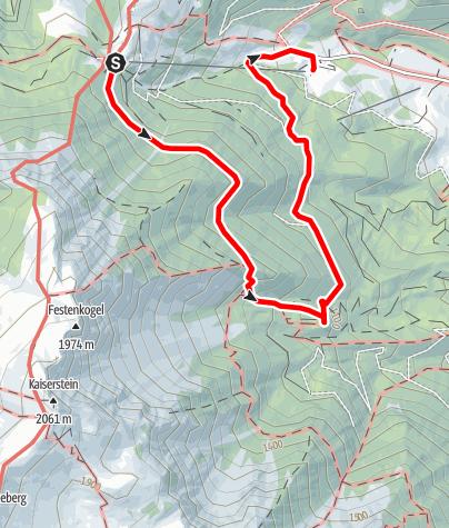 Mapa / Tut Gut Wanderweg Puchberg am Schneeberg Route 2