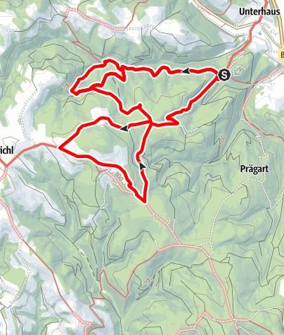 Karte / Wanderung Schloss - Steinkreis