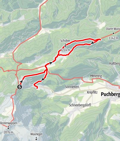 Karte / Tut Gut Wanderweg Puchberg am Schneeberg Route 3