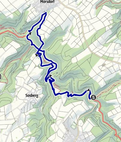 Karte / Teilbereich Traumschleife Masdascher Burgherrenweg mit Rundweg Geierlayschlei