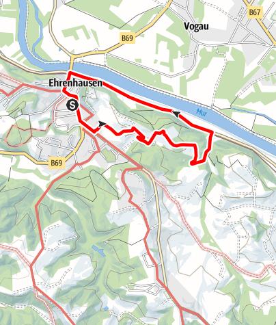 Karte / Wandern in Ehrenhausen - Weg 4
