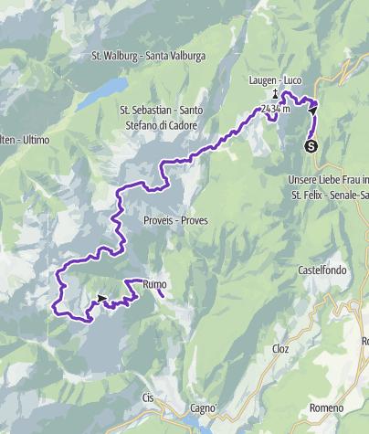 Karte / Maddalene Sky Marathon