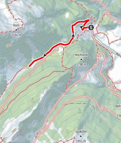 Kaart / Winterwanderung zur Stadlalm im Ridnauntal