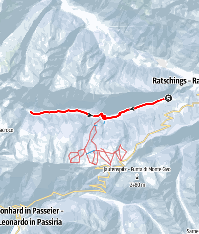 Map / Winter hike to Flading in the Ratschingstal Valley