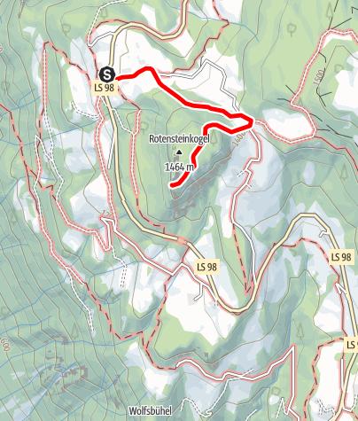"""Karte / Knottnkino in Vöran - ausgehend von der Haltestelle """"Alpenrose"""""""