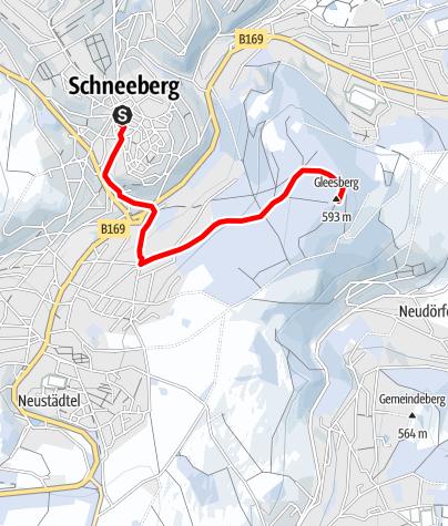 Karte / Winterwanderung zum Gleesberg