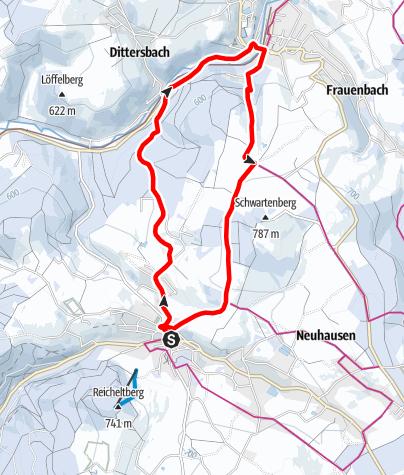Karte / Winterwandern - Seiffen-Neuhausen-Seiffen