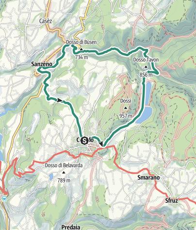 Map / Anello da Coredo passando per il Santuario di San Romedio e Sanzeno