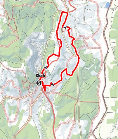 """Karte / Traminerweg, Klöch,  2. Abschnitt, """"Rund um den Hochwarth"""""""
