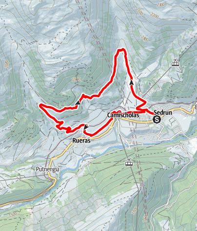 Karte / Uaul Flurin (Val Strem) Nr. 921