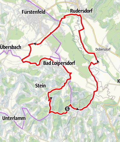 Karte / Loipersdorf/FF 14 Mühlentour