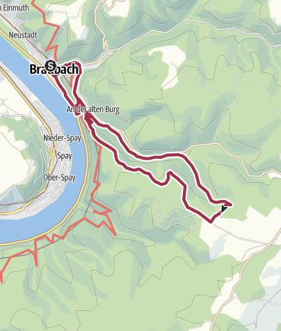 Map / Buchenweg in Braubach