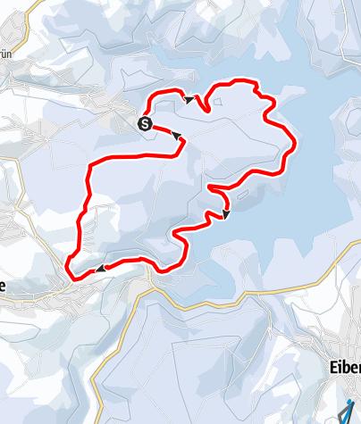 Karte / Winterwandern - Rund um den Webersberg im Uferbereich der Talsperre Eibenstock