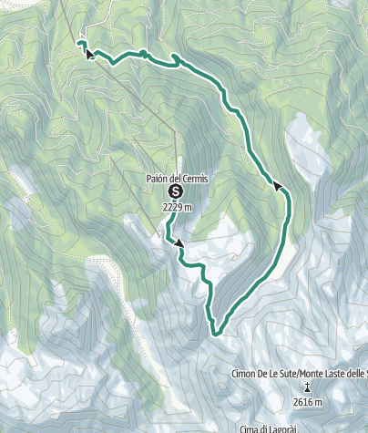 Cartina / Laghi Bombasel e Lagorai