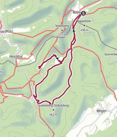 Karte / Von Nothweiler zum Fleckensteinweiher über Gimbelhof und zur Burg Fleckenstein