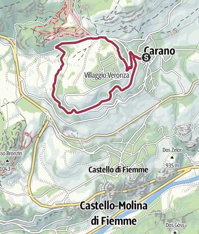 Karte / Carano - Kiefernspaziergang