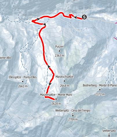 Mapa / Skitour zur Maurerspitze
