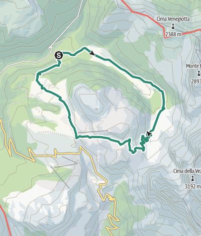 Karte / Val Venegia - Am Fuße der Dolomiten Pale di San Martino