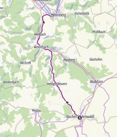 Karte / Main-Tauber-Fränkischer Rad-Achter: Westring 2. Etappe