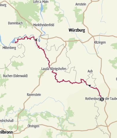 Karte / Gesamtstrecke Panoramaweg