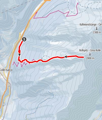 Karte / Skitour auf das Hühnerspiel (Amthorspitze)