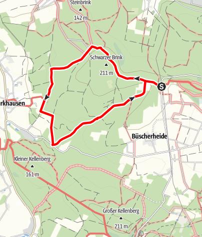 Kaart / Wanderweg in Preußisch Oldendorf A5