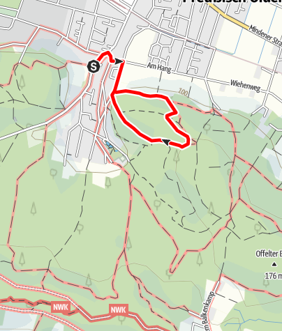 Karte / Wanderweg in Preußisch Oldendorf A1