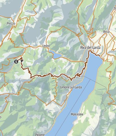 Mappa / 18. September 1999 von Ledrotal Rif. Garda Tremalzo Torbole.