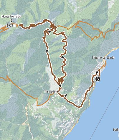 Karte / 01. August 1991 Limone Tremalzo & zurück.