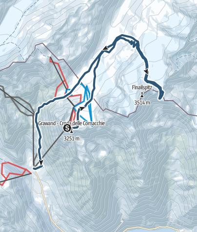 Cartina / Sci alpinismo al Luogo del ritrovamento di Ötzi