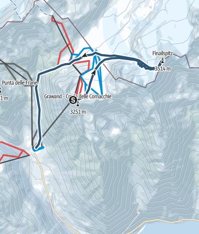 Cartina / Sci alpinismo alla Punta di Finale